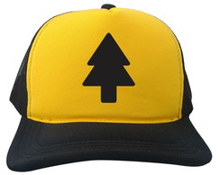 ... Boné Trucker Dipper Pines Gravity Falls Amarelo e Preto d50e5343d60