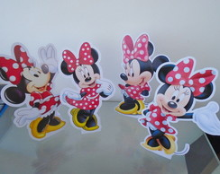 Kit 04 Totens de Mesa Minnie Vermelha