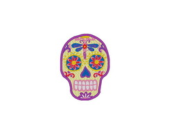 Patch Bordado Caveira Mexicana Sugar Skull - modelo1