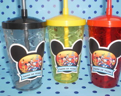 Copo c/ Canudo 500ml Turma do Mickey 01