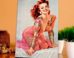 Placa decorativa pin up