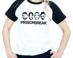 Camiseta Prison Break Raglan feminina