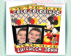 Revista de colorir Mickey Mouse com foto