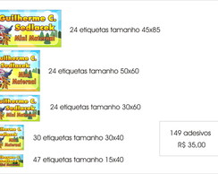 kit etiquetas p/ mat. escolar SuperWings