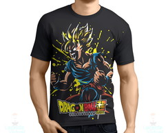 Camisa, Camiseta Dragon Ball Goku Transformação Sayajin