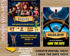 Convite Digital Tinker Bell + Save the date