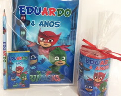 Kit revista e cofre PJ MASKS