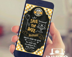 Arte Save the Date - Tema Boteco