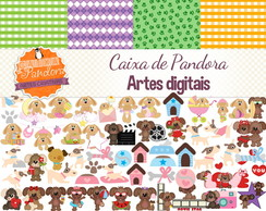Kit Scrapbook Digital - Cachorro 2