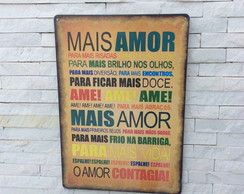 Placa Decorativa - Mais Amor