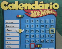 Calendário Permanente Hot Wheels
