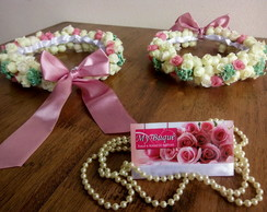 Kit 02 Coroas de flores/Headband Damas