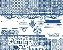 Kit Digital Azulejo Português Azul