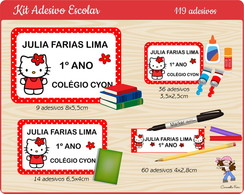 Kit Adesivo Escolar 1 Hello Kitty