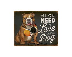 Placa Decorativa Litoarte All You Need Is Love DHPM-317