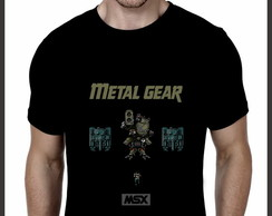 Camiseta Geek MSX Metal Gear
