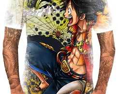 Camiseta Camisa Personalizada Anime One Piece Piratas Hd 3