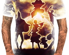 Camiseta Camisa Personalizada Anime One Piece Piratas Hd 21