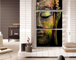 Quadro Decorativo Interiores Buda colorid 60x120cm em CANVAS