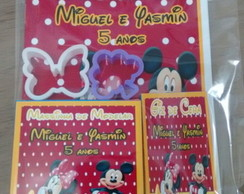 Kit colorir massinha com giz da Minnie