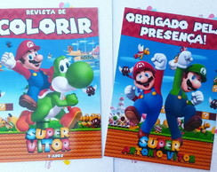 revista de colorir super mario