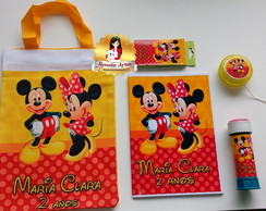 Kit alegria na ecobag MICKEY E MINNIE 2