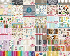 Kits Digitais Scrapbook - Kika