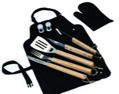 Kit churrasco com avental