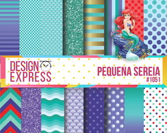 Papel Digital - Pequena Sereia