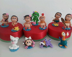 Mini personagens tema Moana