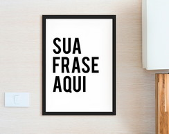 Poster A4 Frase Personalizada