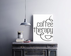 "Placa decorativa ""Coffee Therapy"""