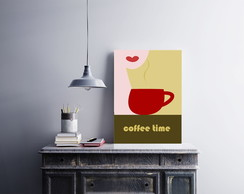 "Placa decorativa ""Coffee Time"""