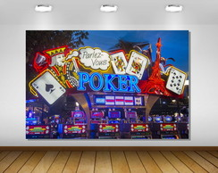 PAINÉL LAS VEGAS POKER 1,50X1M - ARTE DIGITAL