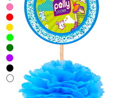 Kit 5 Enfeites de Mesa Polly Pocket