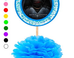 Kit 5 Enfeites de Mesa Batman VS Superman