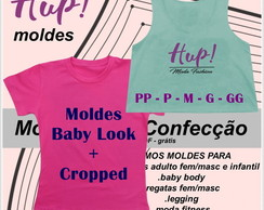 Kit Moldes Cropped + Baby Look - PDF