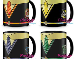 Kit 4 Canecas Pretas - Harry Potter