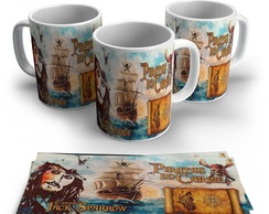 Caneca Piratas do Caribe