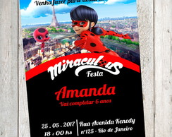 Convite Miraculous as Aventuras de Lady Bug