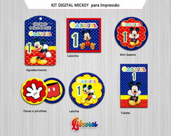 Kit Digital Etiquetas Mickey