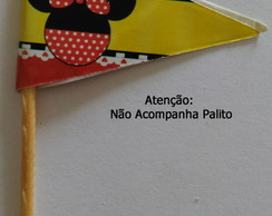 Topper Tag Bandeirinha Minnie (30 unid.)