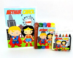 Baby Kit colorir e Modelar - super heróis