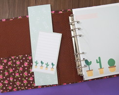Kit simples planner A5 - Cactos (ARQUIVO DIGITAL)