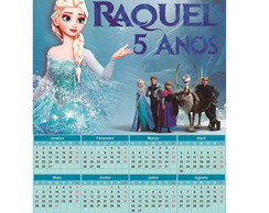 Lembrancinha Calendario 2018 Frozen (Digital)