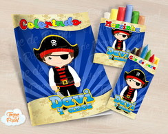 Kit colorir giz massinha Piratas