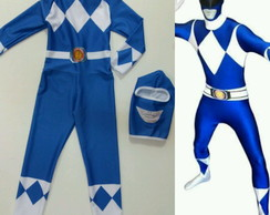 Fantasia Power Ranger Azul