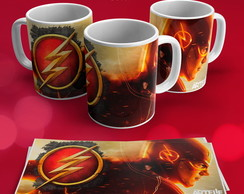 1 UND - CANECA PORCELANA 325ML - Heróis - The Flash - #0001