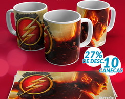 10 UND - CANECA PORCELANA 325ML - Heróis - The Flash - #0001