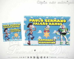 kit 70 etiquetas escolares toy story